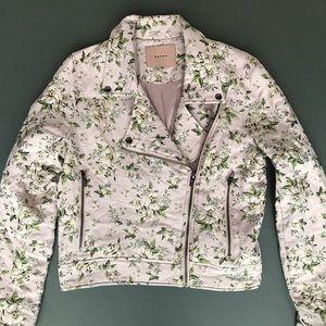 Blank NYC Floral Moto Jacket, Coat, Stem to Stem L